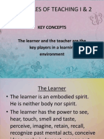 Principles of Teaching i & 2