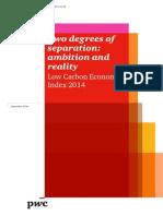 Low Carbon Economy Index 2014