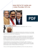 Only 2% Chinese Aid to Sri Lanka Are Grants While India Provides 33% as Grants
