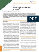 Lípidos Membrana y Peptidos Antimicrobianos