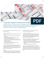 5 Tips for Improved Internal Audits