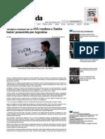 Adopta Consejo de La ONU Condena a 'Fondos Buitre' Promovida Por Argentina — La Jornada