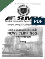 17 Nov 14 News Clippings