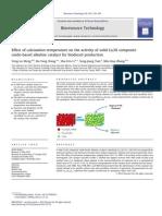 Efeito da Calcinacao Na/Al para produção de biodiesel