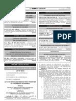 Ley N° 30264 - Ley que estable medidas para promover el crecimiento económico