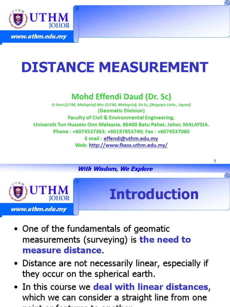 Linear Distance Measurement | Accuracy And Precision | Observational