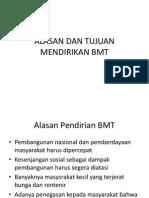 Alasan Dan Tujuan Mendirikan Bmt--fazmi