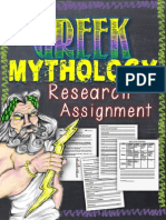 Greek Mythology Research Assignment Free