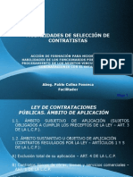 MODALIDADES DE SELECCIÓN DE CONTRATISTAS
