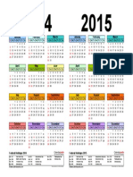 Two Year Calendar 2014 2015 Landscape in Color