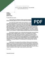 samanthas cover letter