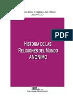 Historia De Las Religiones -Anónimo