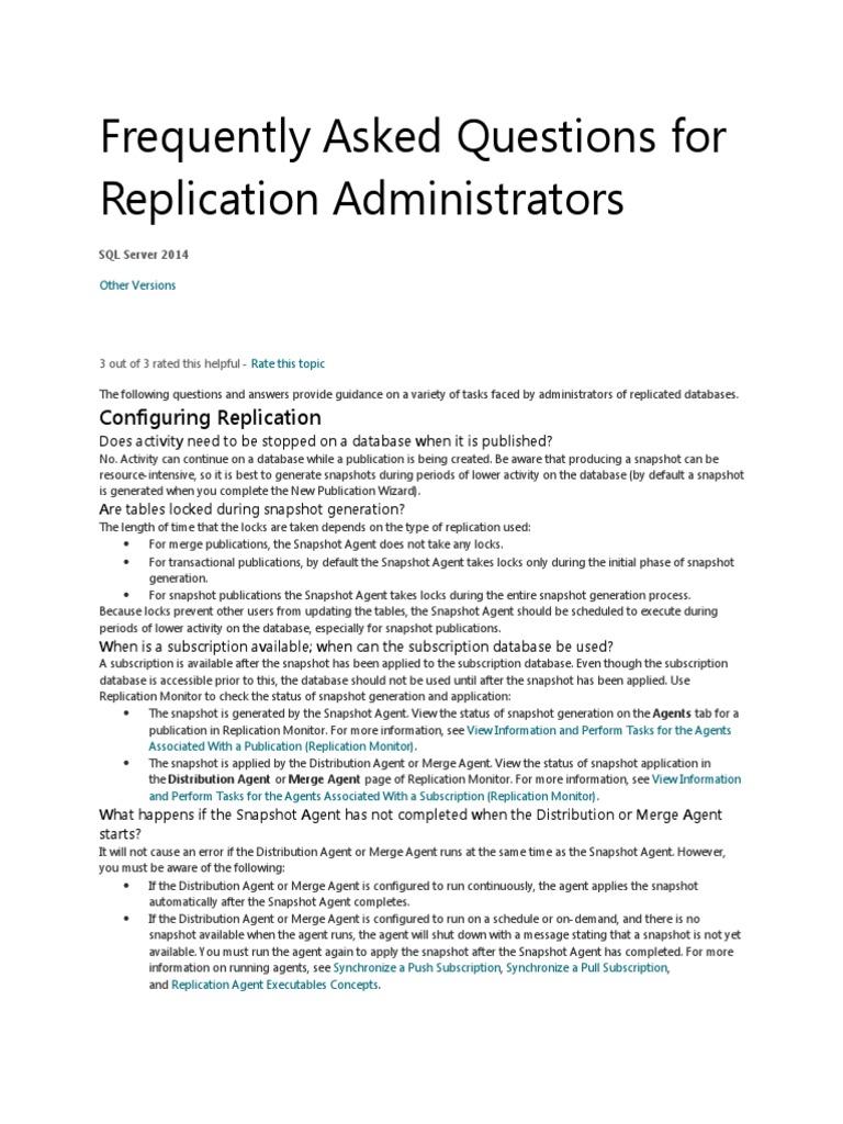 Replication Important Interview Qus & Ans | Microsoft Sql Server