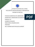 Primer Informe Quimica