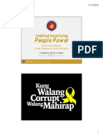 Institutionalizing People Power by Sec. Florencio Abad. Presented during the Good Governance Dialogues - Baguio City at the City Light Hotel, last November 13, 2014.