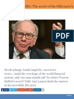 Warren Buffet - The Secret of the Billionaire's Success