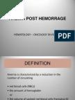 Anemia Post Hemorrage
