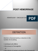Anemia Post Hemorrage