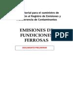 Propuesta Guía Estimacion de Emisiones de Fundiciones Ferrosas