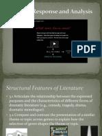 literary response and analysis