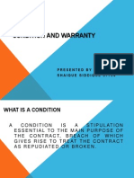 conditionwarranty-140209025018-phpapp01