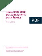 Tableau de bord pour l'attractivité de la France | Edition 2014
