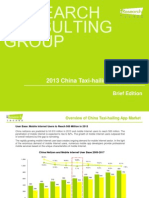 2013 China Taxi-hailing App Report (Brief Edition)