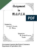 Assignment in M.A.P.E.H.