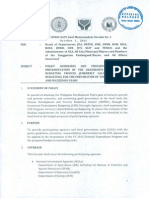 DBM-DILG-DSWD-NAPC Joint Memorandum Circular No. 5 Dated October 1, 2014