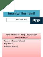 Imunisasi Ibu Hamil