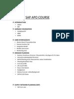 Sap Apo Course