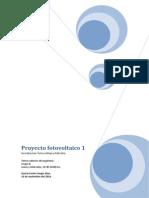 Proyecto fotovoltaico 1