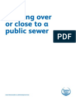 Building Over a Public Sewer Application Form
