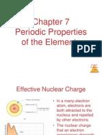 CH 7 Periodic Properties