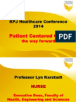 Patient Centered Care the Way Forward
