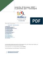 Leçon 6 a La Découverte d'Access 2007 Les Pièces Jointes Par l'Exemple