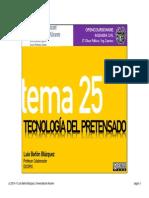 Tema 25 - Tecnología Del Pretensado