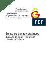 Algorithmique & programmation en langage C vol.2 - Sujets