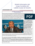 Boletín del Grupo Socialista del Cabildo de Tenerife 101. 10 - 16 de noviembre 2014