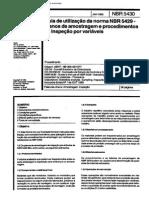Encontro 6 - NBR 5430 Nb 309-05 - Guia de Utilização Da Norma NBR 5429 - Planos de Amostragem e Procedimentos Na Inspeção Por Variáveis (COMPLEMENTAR)