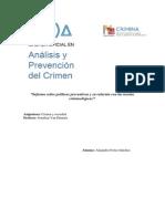 Informe Sobre Políticas Preventivas y Su Relación Con Las Teorías Criminológicas (Alejandro Fortes Sánchez)