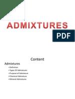 Admixtures Presentation1