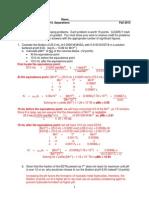 Chem HW Key 222 Fall 2013 Exam 4 Key