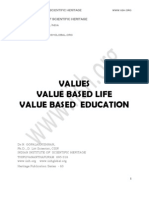 Value Based Life and Education