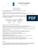 Sujet Enzymologie 2