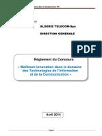 Concours Innovation 2014 Algerie Telecom