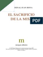 Cardenal Juan Bona - El Sacrificio de La Misa