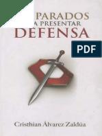 Cristian Alvarez Zaldua. Preparados Apra Presentar Defensa
