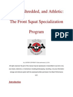 Front Squat Specialization