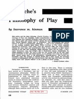Lawrence M. Hinman Nietzsches Philosophy of Play (1974)-Libre